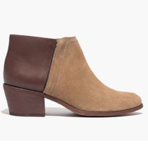 Madewell Cait Ankle Booties Leather Suede